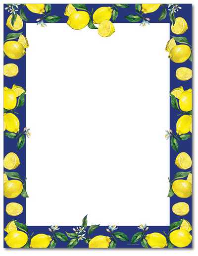 Food Letterhead - Lemon Drop - 60lb Text