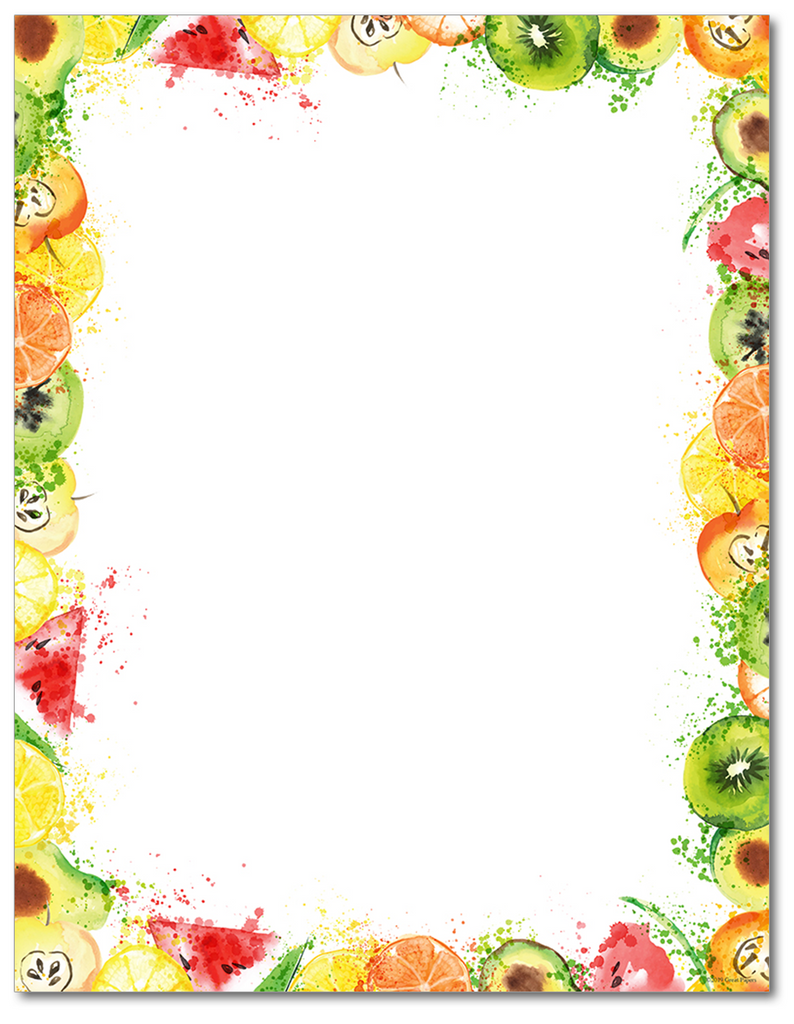 Food Letterhead - Fruit Splash - 60lb Text