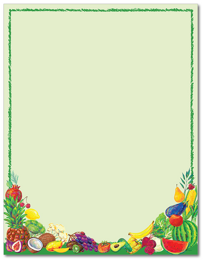 Food Letterhead - Healthy Eats - 60lb Text
