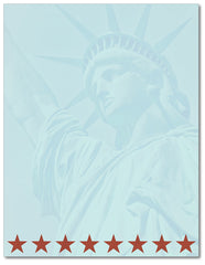 Patriotic Stationery - Lady Liberty - 60lb Text