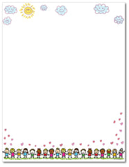 School Letterhead - Making Friends - 60lb Text