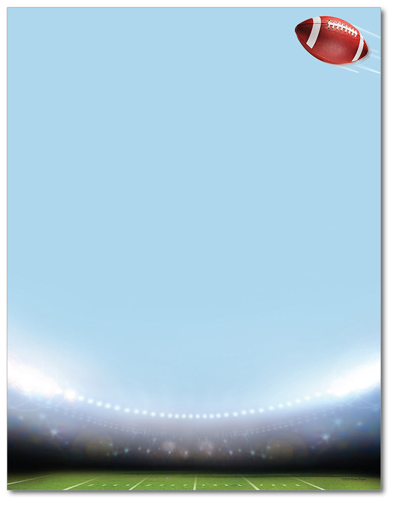 Football Stationery - Game Time - 60lb Text