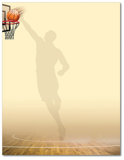 Basketball Stationery - Nothing But Net - 60lb Text
