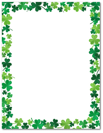 St. Patrick's Day - Jolly Shamrock Letterhead - 60lb Text