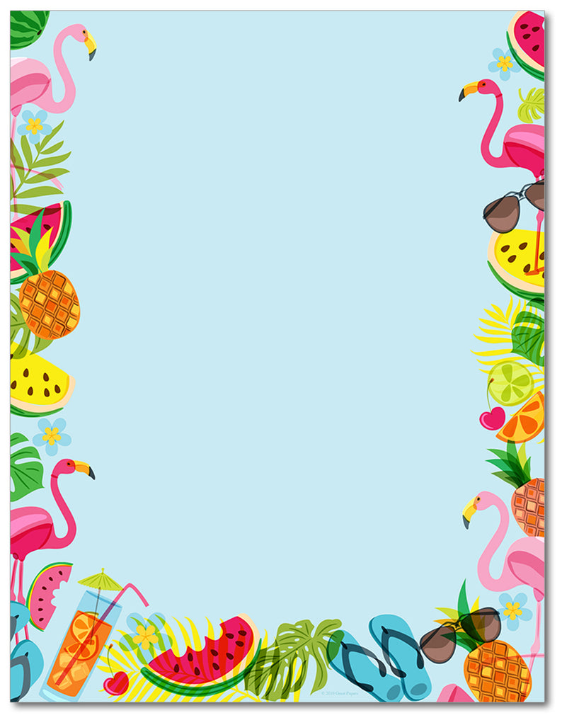 Summer Theme Paper - Tropical Vibes - 60lb Text
