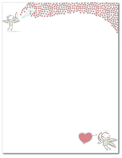 Valentine's Letterhead - Bow and Arrow - 60lb Text