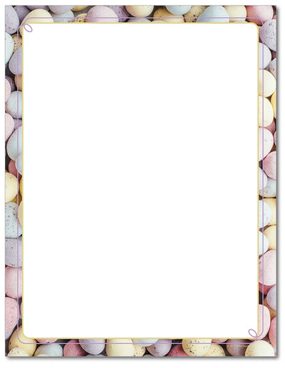 Easter Letterhead - Speckled Eggs - 60lb Text