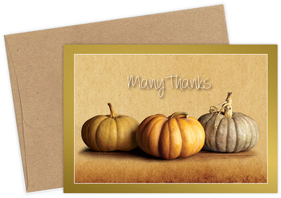 Fall Pumpkins Thank You Card Sets