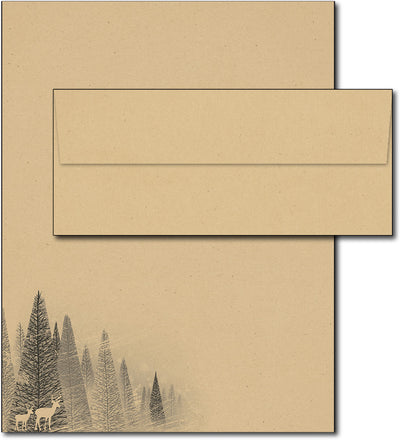 Winter Forest Holiday Stationery & Envelopes