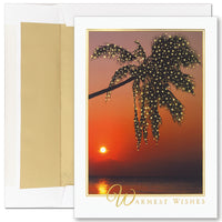 Lighted Palm Tree Boxed Holiday Cards & Envelopes
