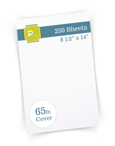 "65lb White Legal Cardstock -  8 1/2"" x 14"" - (Brand: Printure)"