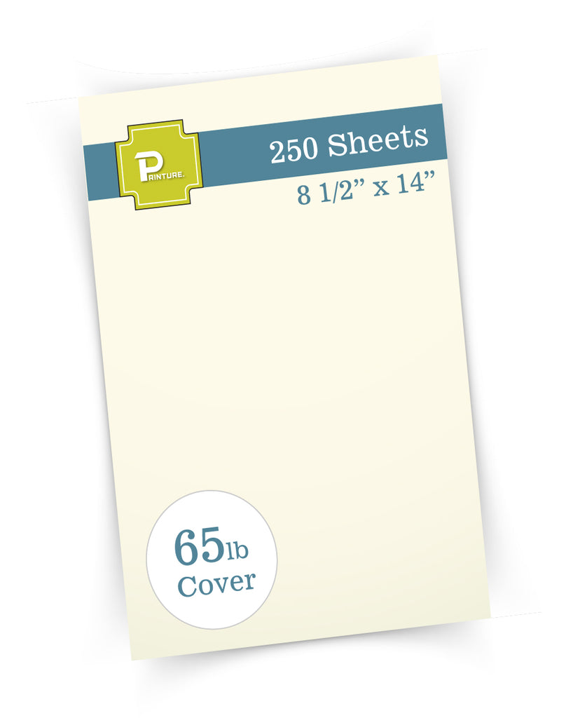 "65lb Cream Legal Cardstock -  8 1/2"" x 14"" - (Brand: Printure)"