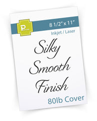 8 1/2 x 11 Cardstock -  80lb Cover - Silky Smooth Finish