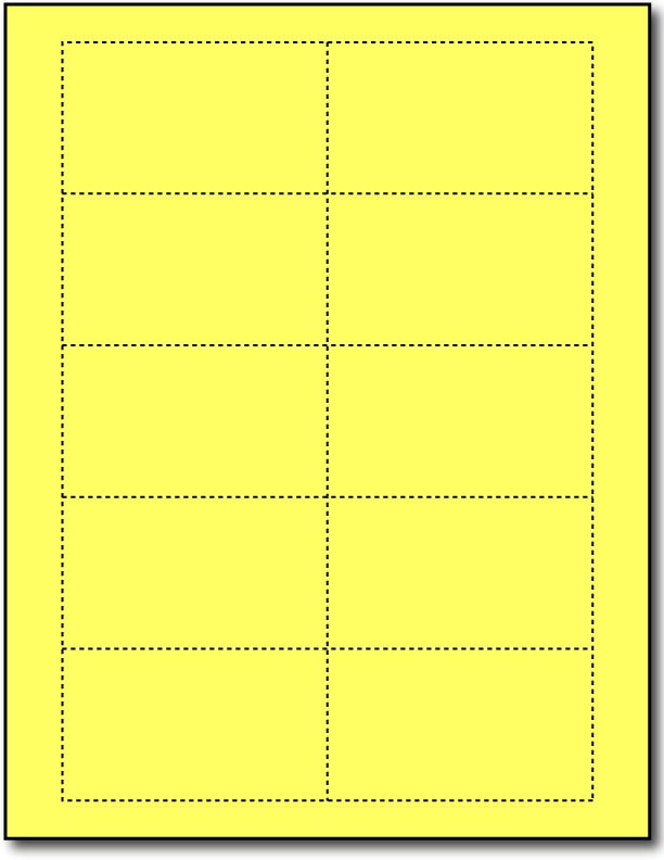 "65 lb Bright Yellow cards , measure (3 1/2"" x 2"") , compatible  with copier, Inkjet and laser, Matte Both sides"