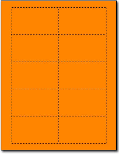 "65 lb Bright Orange cards , measure (3 1/2"" x 2"") , compatible  with copier, Inkjet and laser, Matte Both sides"