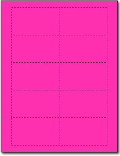 "65 lb Ultra Fuhsia Business cards , measure (3 1/2"" x 2"") , compatible  with copier, Inkjet and laser, Matte Both sides"