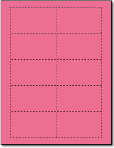 110lb Index Plain Pink Business Cards