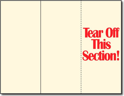 "65lb Cream Tri-fold Brochures w/ Tear-off measure 8 1/2"" x 11"", Matte both sides"