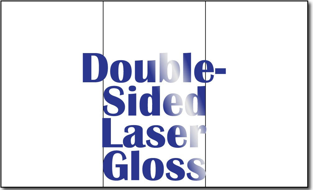 "8 1/2"" x 14"" 38lb Laser Gloss Trifold Brochures - 250 Brochures"