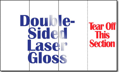 "8 1/2"" x 14"" 4 Panel 38lb Laser Gloss Brochures w/ Tear Off - 250 Brochures"