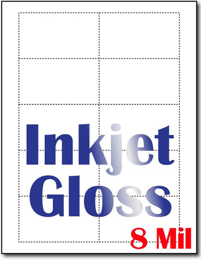 "8 mil Inkjet Glos Business Cards, measure (3 1/2"" x 2"") , compatible  with copier, Inkjet and laser, Matte Both sides"
