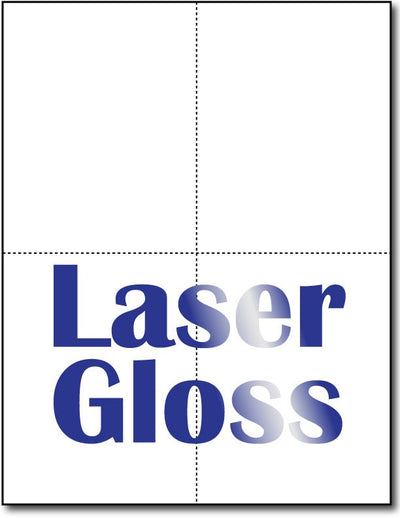 "4 Microperforated Laser Gloss Postcards  on an 8 1/2"" x 11"" Sheet."