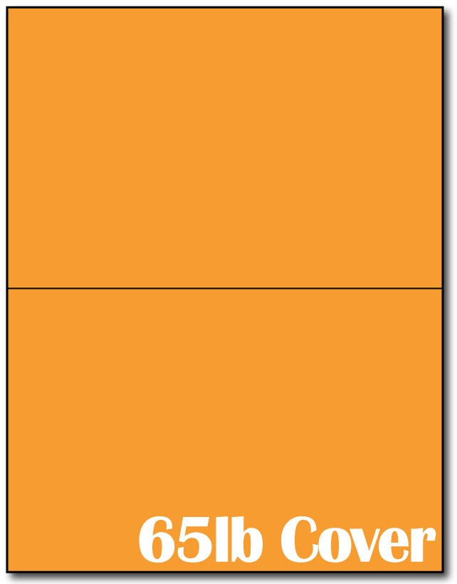"2  Jumbo Microperforated Bright Orange Postcards on an 8 1/2"" x 11"" Sheet."
