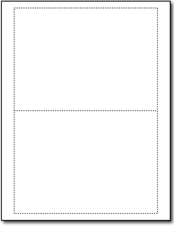 "65lb Microperforated Blank White Postcards measure 5"" x 7""."