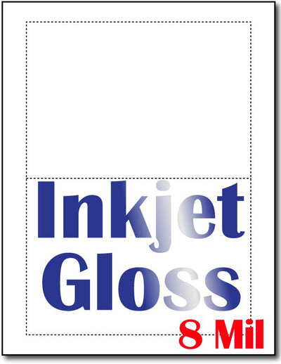 "8 mli Inkjet Gloss, measure (5"" x 7"") , compatible  with inkjet, Matte Both sides"