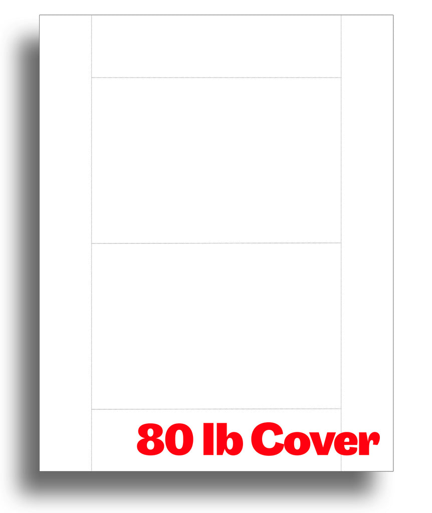 "Thick White Postcards -  4"" x 6"" - 80lb Cover"