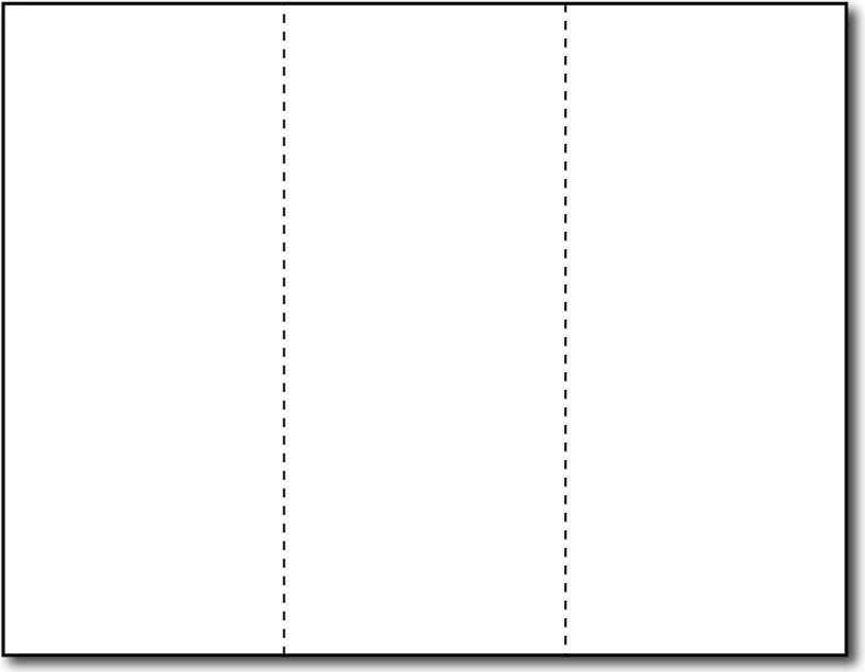 80lb - 3 Microperforated White  8 1/2 x 3 2/3 Notecards.