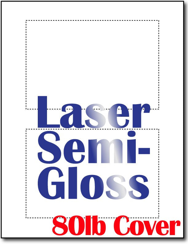 "80lb Microperforated Laser Semi-Gloss 4"" x 6"" Postcards."