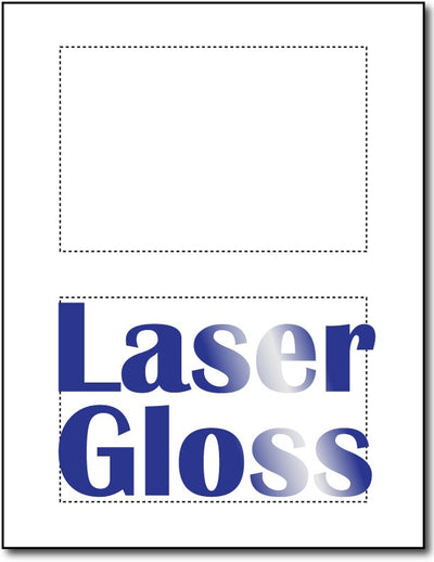 "80lb Microperforated Laser Gloss 4"" x 6"" Postcards."