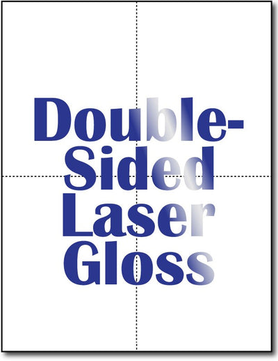 4 Microperforated Double Sided Laser Gloss Postcards.