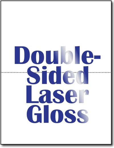 "2  Double Sided Laser Gloss Postcards on an 8 1/2"" x 11"" sheet."