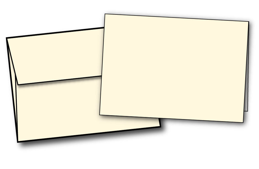 Cards And Envelopes - 8.5 X 5.5 | Half Fold (80lb Cover | Cream)