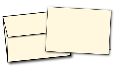 "Blank Cream (4 7/8"" x 3 3/8"") Note Cards & Envelopes"