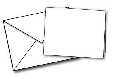 2 5/8 X 3 1/2 Cards With Envelopes - (80lb Cover / White)