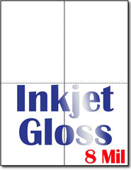 "8 mil Inkjet 2-Up  Greeting Postcards, measure (8 1/2"" x 11"") , compatible  with inkjet Matte Both sides"