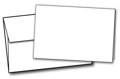 White Half Fold Greeting Cards & Envelopes - 40 Sets, compatible with inkjet and laser