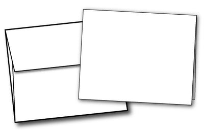 "White Half Fold (4 1/4"" x 5 1/2"") Greeting Cards & Envelopes - 40 Sets, compatible with inkjet and laser"