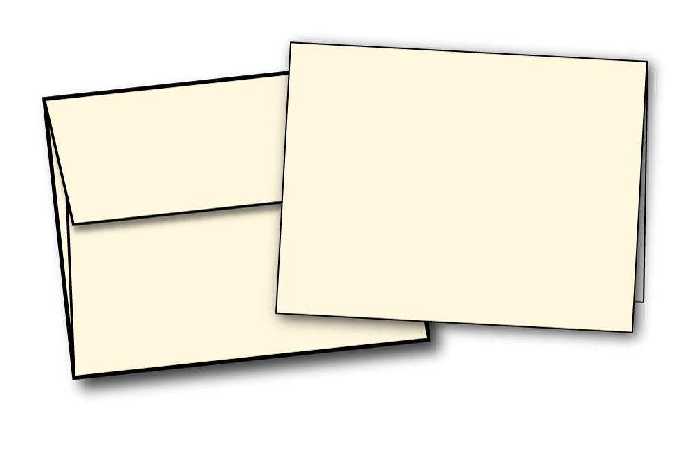 4 1/4 X 5 1/2 Cards With Envelopes - (80lb Cover / Cream)