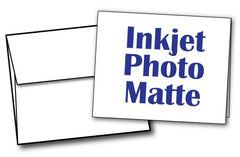 "White Half Fold (4 1/4"" x 5 1/2"") Greeting Cards & Envelopes for Inkjet Printers - 40 Sets, compatible with inkjet and laser"