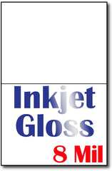"9 mil Inkjet Gloss cards, size A6, measure (4 5/8"" x 6 1/4"") , compatible  with inkjet, Full Gloss"