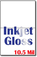 "10.5 mil Inkjet Gloss , measure(8 1/2"" x 11""), compatible with inkjet, full gloss"