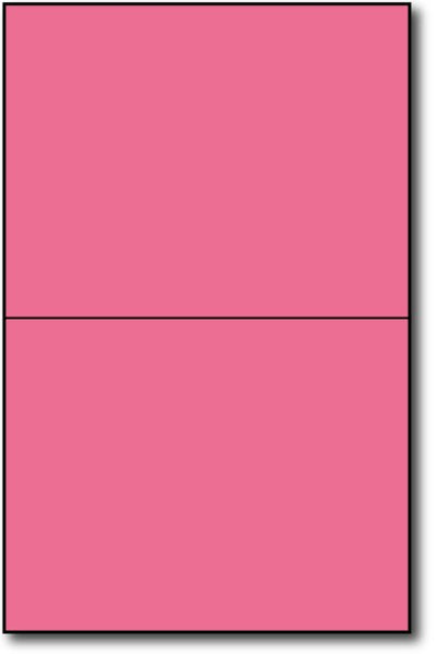 "Pink  Single Invitations on an 8 1/2"" x 5 1/2"" sheet."