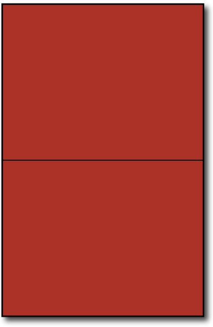 "Holiday Red  Single Invitationson an 8 1/2"" x 5 1/2"" sheet."
