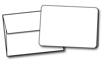 "White Half Fold (4 1/4"" x 5 1/2"") Greeting Cards with rounded corners & Envelopes - 40 Sets, compatible with inkjet and laser"