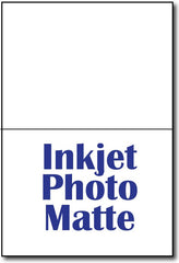 "A6 Cards Inkjet Photo Matte measure 4 5/8"" x 6 1/4""."