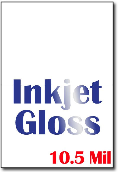 "10.5 mil Inkjet Gloss , size A6, measure(8 1/2"" x 11""), compatible with inkjet, full gloss"